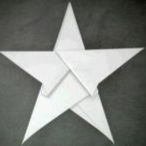 Робимо зірочку з паперу. Об`ємні і класичні