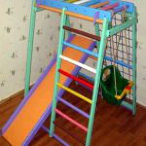 Дитячі спортивні комплекси і компактні куточки для будинку