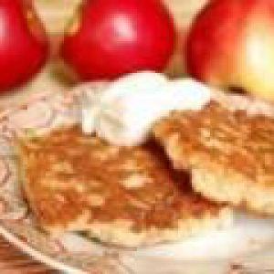 Сирники з яблуками (від 3 до 7 років)