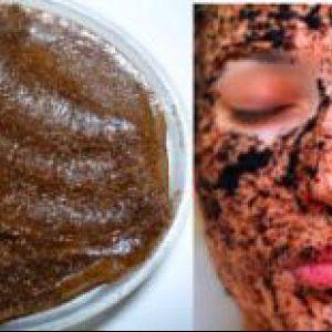 Домашня чистка жирної шкіри обличчя кавовим скарбом