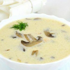 Грибний суп з плавленим сиром.