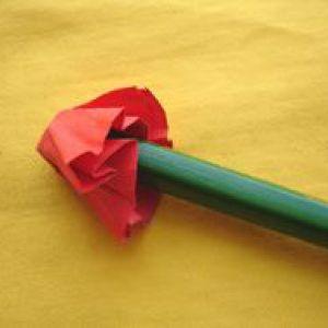 Кошик з квітами з кольорового паперу