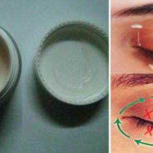 Крем від мімічних зморшок навколо очей в домашніх умовах