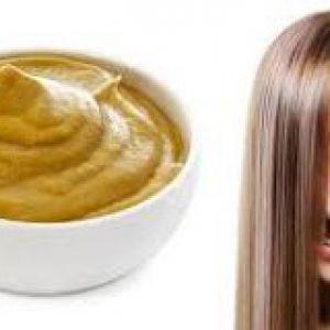 Маска для волосся з гірчицею