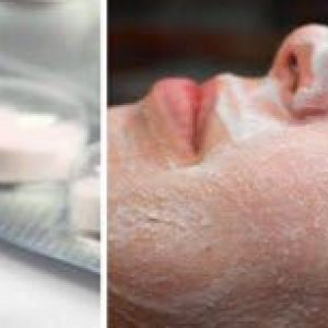 Маска з аспірину і меду. Очищує шкіру від вугрів і чорних крапок