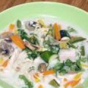 Молочно-овочевий протертий суп (від 1 року до 1,5 років)