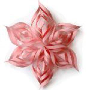 Об`ємна сніжинка з паперу