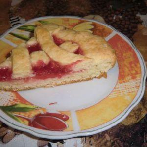 Пиріг сирний з джемом