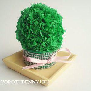 Виріб з гофрованого паперу: кактус в горщику