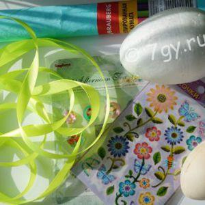 Виріб пасхальне яйце для дітей своїми руками