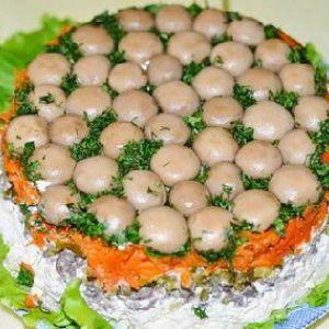 Салат грибна поляна