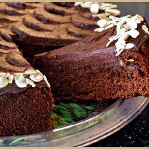 Шоколадно банановий торт