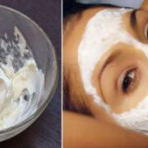 Сметанна маска для омолодження шкіри обличчя