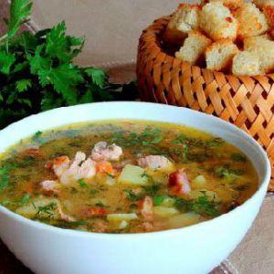 Суп з копченостями
