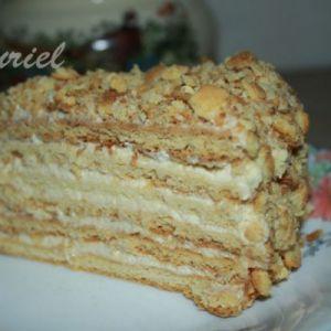 Торт з яблучним кремом