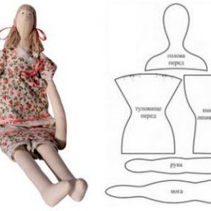 Викрійки ляльки тильди в натуральну величину